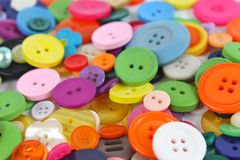 Stos jaskrawy coloured pasamonictwo guziki Zdjęcie Royalty Free