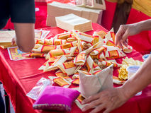 Stos Joss papier, złoto papier/ Fotografia Royalty Free