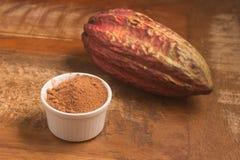 Stos kakaowy proszek obrazy stock