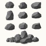 Stos kamienie, grafitu węgiel royalty ilustracja