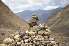 Stos kamienie w górze zdjęcie stock