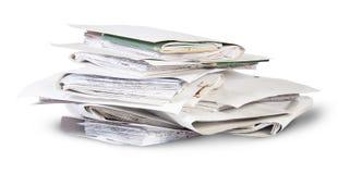 Stos kartoteki w chaotycznym rozkazie wirującym Zdjęcia Stock