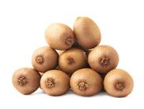 Stos kiwifruits odizolowywający Obraz Stock