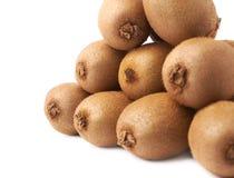 Stos kiwifruits odizolowywający Fotografia Royalty Free