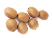 Stos kiwifruits odizolowywający Zdjęcia Stock