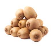 Stos kiwifruits odizolowywający Zdjęcia Royalty Free