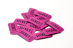 Stos kolorowi bilety odizolowywający Zdjęcia Royalty Free