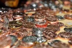 Stos monety Obrazy Stock