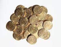 Stos monety - Praga groschen Obrazy Royalty Free