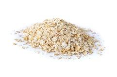 Stos natychmiastowy oatmeal na bielu Obrazy Royalty Free