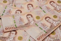 Stos nowi 1000 Tajlandzkiego bahtu banknotów obrazy stock