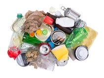 Stos odizolowywający na białym tle odpady zdjęcie royalty free