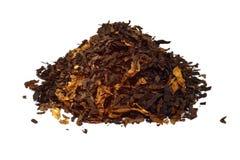 Stos odizolowywający na bielu fajczany tytoń Fotografia Royalty Free