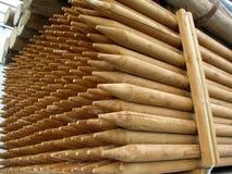 Stos ostrego punktu drewniani słupy Obrazy Royalty Free
