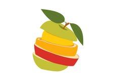 Stos owoc ilustracji
