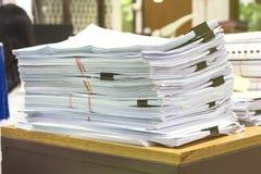 Stos papier kłaść nasunięcie Obraz Stock