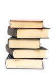Stos pięć książek Obrazy Royalty Free