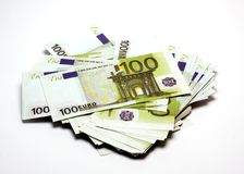 Stos pieniądze Zdjęcie Stock