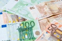 Stos pieniędzy euro dla biznesu i finanse Obrazy Stock