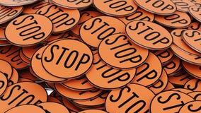 Stos Pomarańczowi przerwa znaki Obraz Stock