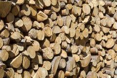 Stos rżnięty drewno obraz stock