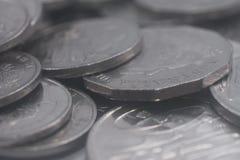 Stos Srebne Australijskie walut monety Obraz Stock