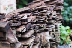 Stos stara drewniana deska Obrazy Stock