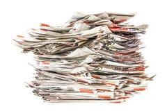 Stos stare falcowanie gazety zdjęcie stock