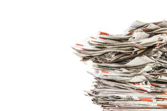 Stos stare falcowanie gazety fotografia stock