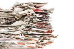Stos stare falcowanie gazety zdjęcia stock
