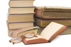 Stos stare książki obrazy stock