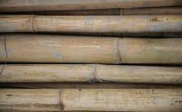 Stos stary bambus Zdjęcia Royalty Free