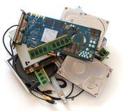 Stos stary komputer wymy?la zdjęcie royalty free