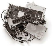 Stos stary komputer wymy?la zdjęcie stock