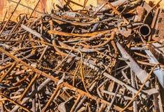 Stos starzy ośniedziali metali produkty Zdjęcie Stock