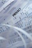 Stos tarty papier - prywatność Zdjęcia Stock
