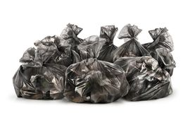Stos torba na śmiecie odizolowywający Obraz Royalty Free