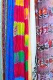 Stos tradycyjni kolorowi Arabscy scarves Zdjęcia Royalty Free