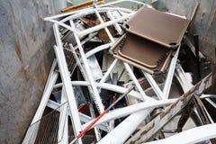 Stos ułożony kruszcowy odpady zdjęcie royalty free