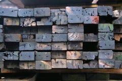 stos używać drewno Obrazy Stock