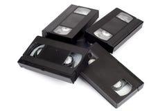 Stos wideo kasety zdjęcia royalty free