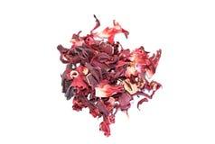 Stos wysuszona granatowa kwiatu herbata Obraz Stock