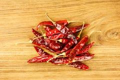 Stos wysuszony czerwony chili obrazy stock