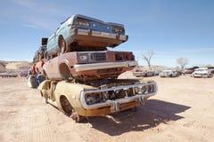 Stos złomowi samochody fotografia stock