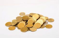 Stos Złote kolor monety - pieniądze pojęcie Zdjęcia Stock