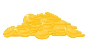 Stos złoto na bielu ilustracja wektor