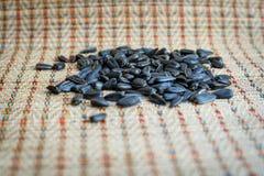 Stos ziarna dla żywieniowych ptaków, w górę obraz stock