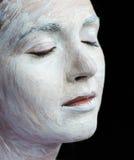 Stosować makeup piękna młoda kobieta obraz royalty free