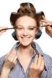 Stosować makijaż Obraz Stock