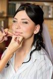 stosować panny młodej makeup Obraz Royalty Free